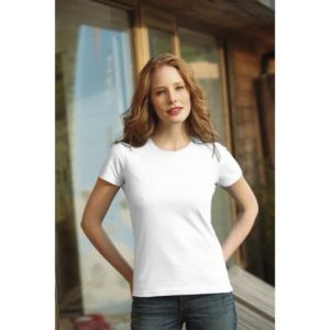 Koszulka damska KEYA  biała 180g