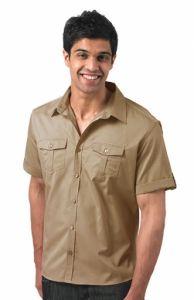 Koszula z podwijanymi rękawami R-919M-0
