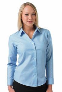 Bluzka Oxford z długimi rękawami R-932F-0