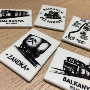 Magnes ceramiczny z logo